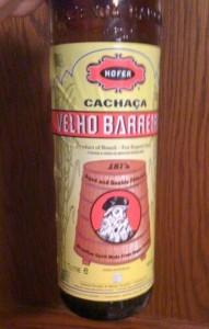Bottle of Velho Barreiro Cachaça