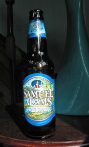a bottle of Alpine Spring from Samuel Adams