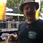 Fervere makes a funny face after finishing a beer at the 2013 Toronto's Beer Fest by the Molson Canadian tent.