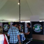 People gather around Brooklyn Brewery at Toronto's Festival of Beer.