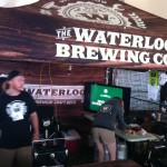 Waterloo Brewing Co. representatives under the Waterloo tent at Toronto's Festival of Beer.