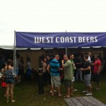 Folks mill around the West Coast Beers tent at Toronto's Festival of Beers