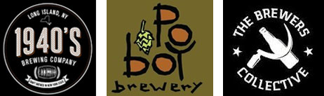 Logos for 1940s Brewing, Po Boy Brewery, and The Brewers Collective